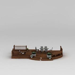 庭院花园3d模型