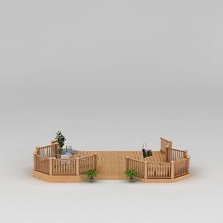私家小花园3d模型