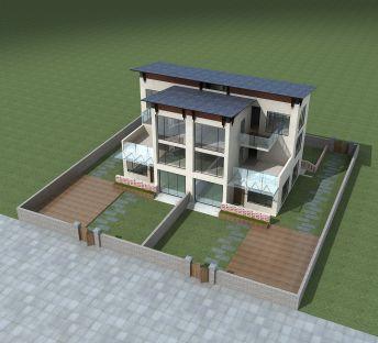 现代三层小别墅