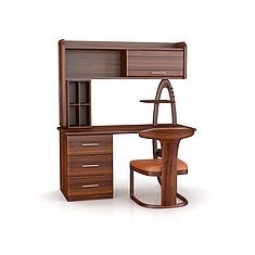 学生家用书桌椅3D模型3d模型