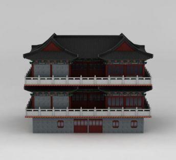 古代建筑涌萃楼