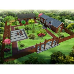 农家小花园3d模型