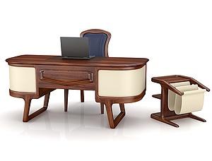 3d经理<font class='myIsRed'>办公桌</font>椅模型
