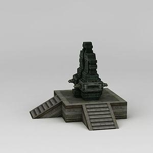 誅仙游戲場景天機鎖模型3d模型