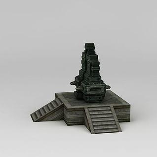 诛仙游戏场景天机锁3d模型