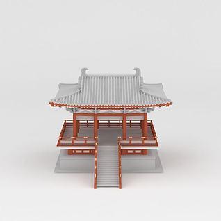 古代观景台3d模型