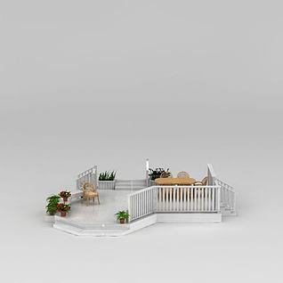 屋顶花园3d模型