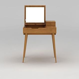 书桌梳妆台两用3d模型