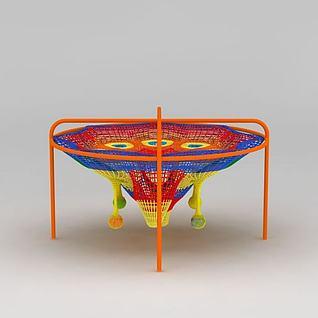 儿童游乐玩具彩虹网3d模型