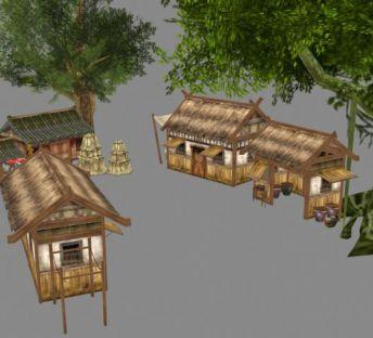 古代茅草屋