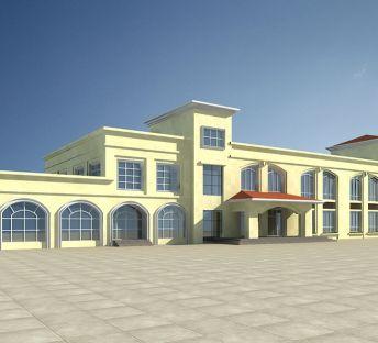欧式度假酒店建筑
