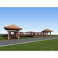 公园休息亭3D模型3d模型