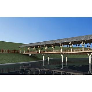 景观桥3d模型