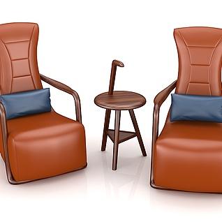 高档休闲桌椅3d模型