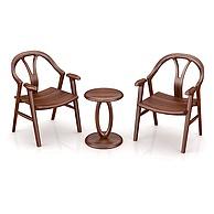 北欧实木休闲桌椅3D模型3d模型