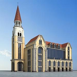歐式建筑模型