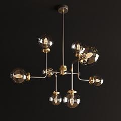 复古工业风吊灯模型3d模型