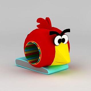 儿童游乐设施愤怒的小鸟3d模型