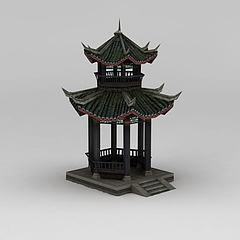 3D模型诛仙游戏亭子隐玄地
