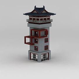 3d<font class='myIsRed'>古建筑</font>碉楼模型