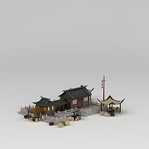 古代房屋建筑模型3d模型