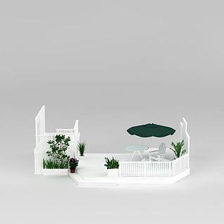 欧式别墅花园3d模型