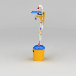 新型吹球机3d模型