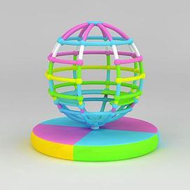 儿童游乐设备地球仪模型