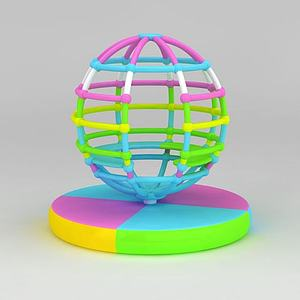 3d兒童游樂設備<font class='myIsRed'>地球</font>儀模型
