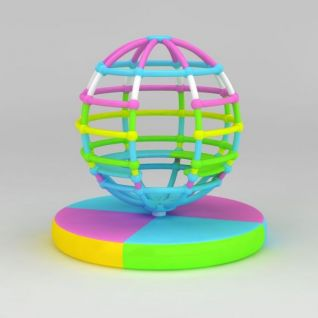儿童游乐设备地球仪3d模型