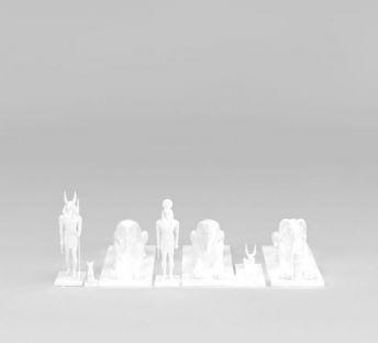 白色古埃及雕塑
