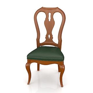 美式无扶手<font class='myIsRed'>餐椅</font>3d模型