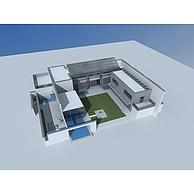 现代乡村别墅3D模型3d模型