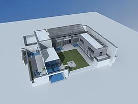 现代乡村别墅3d模型
