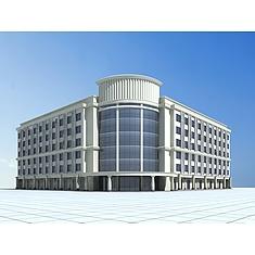 现代五星酒店3D模型3d模型