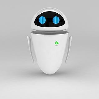 机器人总动员女主角3d模型