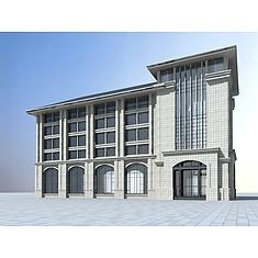 简欧办公楼3D模型3d模型