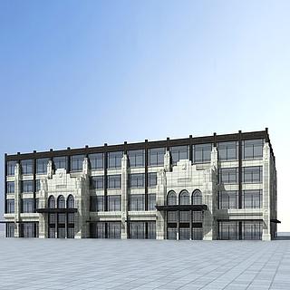 欧式商业楼3d模型