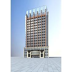 现代高层酒店3D模型3d模型