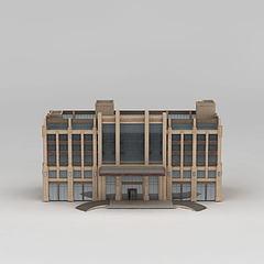 五星高档酒店模型3d模型