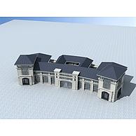 欧式风格商业建筑3D模型3d模型