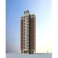 高层住宅楼建筑3D模型3d模型