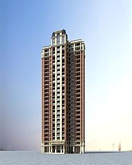 高层住宅楼建筑模型3d模型