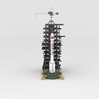 长征2E火箭3d模型