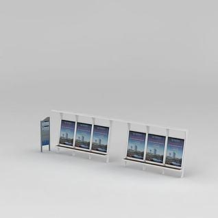 公交站牌3d模型3d模型