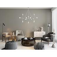客厅沙发茶几吊灯组合3D模型3d模型