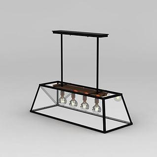 创意餐厅吊灯3d模型3d模型