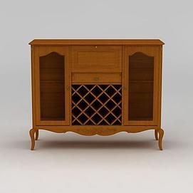 实木吧台柜3d模型