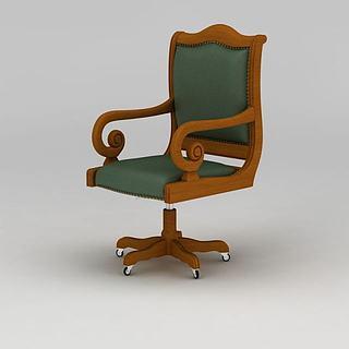 休闲转椅3d模型