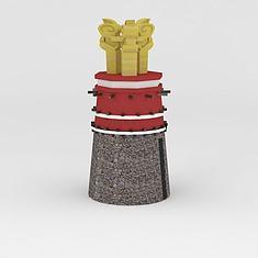 藏式雕塑3D模型3d模型